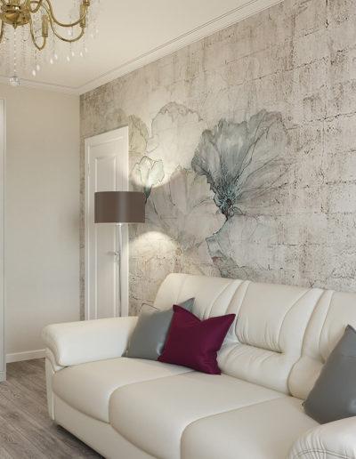 Флотская. Фото визуализации гостиной. Визуализация гостиной. Гостиная. Разработка дизайн проекта. Дизайн-проект квартиры