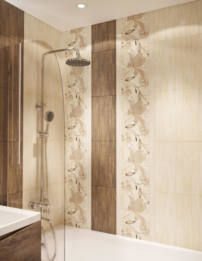 Флотская. Фото визуализации ванной комнаты. Визуализация ванной. Ванная комната. Разработка дизайн проекта. Дизайн-проект квартиры