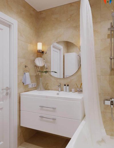 Бориса Пастернака. Фото визуализации ванной комнаты. Визуализация ванной. Ванная комната. Разработка дизайн проекта. Дизайн-проект квартиры