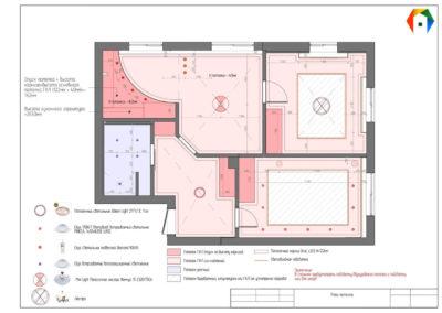 Измайловский бульвар. Фото плана потолка. План потолка. Разработка дизайн проекта. Дизайн-проект квартиры. Рабочий проект