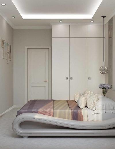 Измайловский бульвар. Фото визуализации спальни. Визуализация спальни. Спальня. Разработка дизайн проекта. Дизайн-проект квартиры