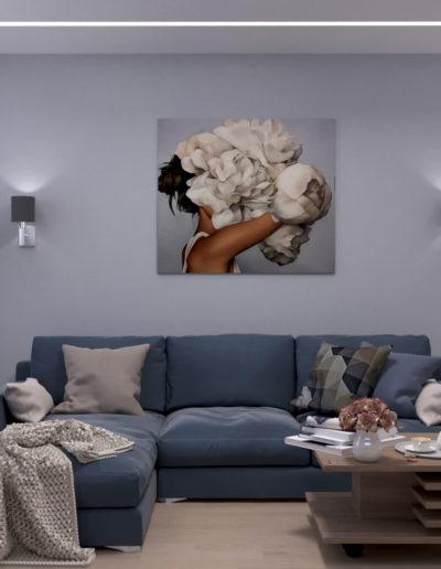Маршала Чуйкова. Фото визуализации гостиной. Визуализация гостиной. Гостиная. Разработка дизайн проекта. Дизайн-проект квартиры