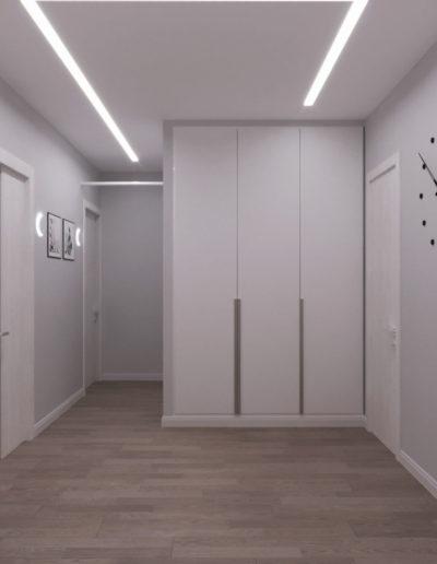 Маршала Чуйкова. Фото визуализации коридора. Визуализация коридора. Коридор. Разработка дизайн проекта. Дизайн-проект квартиры