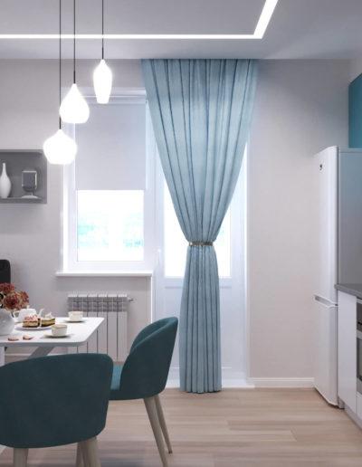 Маршала Чуйкова. Фото визуализации кухни. Визуализация кухни. Кухня. Разработка дизайн проекта. Дизайн-проект квартиры
