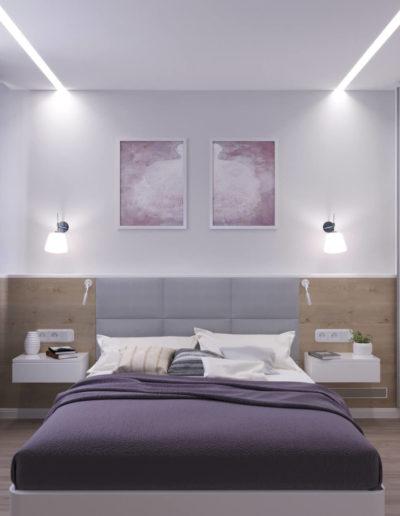 Маршала Чуйкова. Фото визуализации спальни. Визуализация спальни. Спальня. Разработка дизайн проекта. Дизайн-проект квартиры