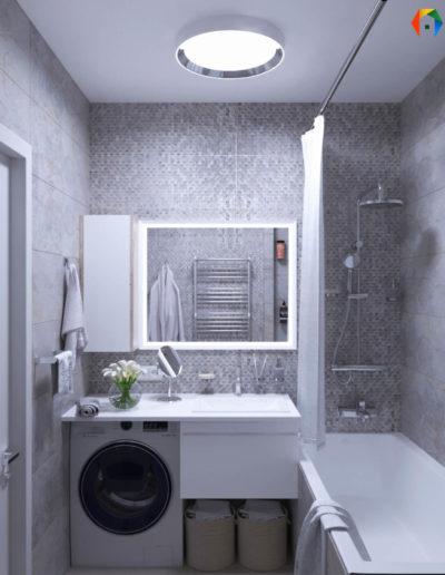 Маршала Чуйкова. Фото визуализации ванной комнаты. Визуализация ванной. Ванная комната. Разработка дизайн проекта. Дизайн-проект квартиры