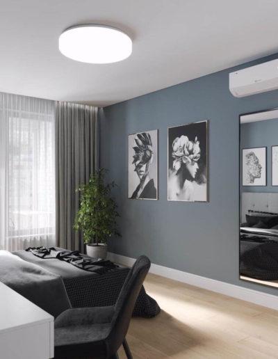 Варшавское шоссе. Фото визуализации спальни. Визуализация спальни. Спальня. Разработка дизайн проекта. Дизайн-проект квартиры